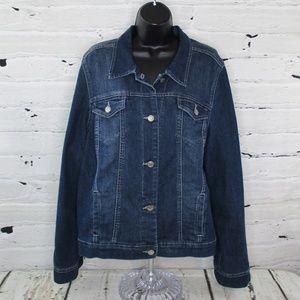 Nine West Vintage America Womens Denim Jean Jacket